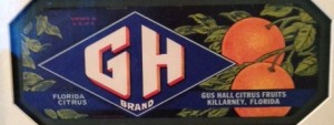Gus Hall Citrus Fruits - GH Brand label
